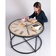 impressive on clock coffee table perfect timing clock face tavern table pub stools amp coffee