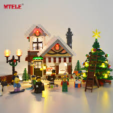 Lego Winter Village Lights Us 21 24 15 Off Mtele Led Light Set For Creator Winter Village Toy Shop Compatible With Model 10249 Building Block Christmas Light In Blocks From