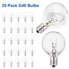 Us 3 04 39 Off Clear G40 Globe Light Bulbs For Patio String Lights Fits E12 And C7 Base 5 Watt G40 Replacement Bulbs For Indoor Outdoor Use In Led