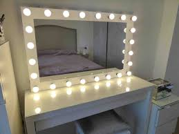 Bedroom Chic Makeup Vanity Table With Lights Interior
