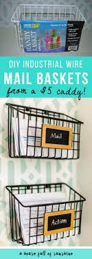 office decor stores. DIY Home Office Decor Ideas - Industrial Wire Mail Baskets Do It Yourself Desks Stores