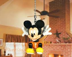 home garden contemporary 1968 now mickey mouse ceiling fan pull light lamp chain decoration mickey mouse disney