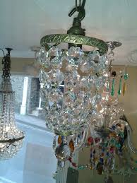 pair of small 1920s bag chandeliers antique chandeliers