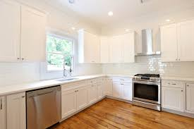 Off White Subway Tile Off White Cabinets White Subway Tile Large Kitchen Design With 1152 by xevi.us