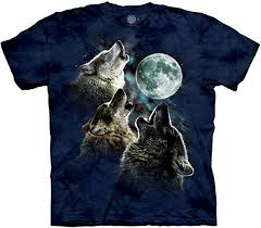 The Mountain Men's <b>Three Wolf</b> Moon Short Sleeve Tee: Amazon.co ...