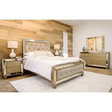 Mirrored Bedroom Set House Of Hampton Levitt Mirrored Tufted Platform 5 Piece Bedroom
