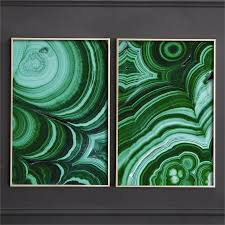 set of 2 malachite framed wall art in assorted two patterns design by tozai on set of two framed wall art with set of 2 malachite framed wall art in assorted two patterns design