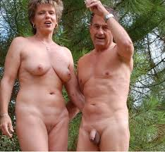 Mature couples topless vacation