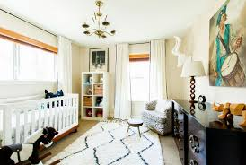 view in gallery modern nursery with carpet and an area rug