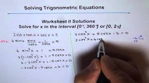 trigonometric equations worksheet 2 solution q5