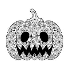 Small Picture Halloween scary pumpkin by ipanki Halloween Coloring pages for