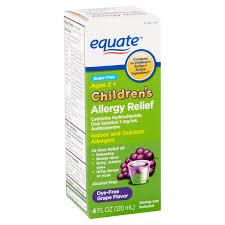 Equate Childrens Allergy Cetirizine Suspension Grape 4 Oz