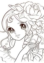 Cute Manga Coloring Pages At Getcoloringscom Free Printable