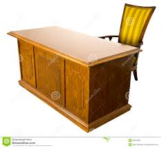 old office desk. business chair desk furniture isolated office old t