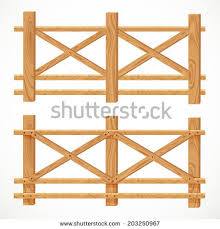 farm fence drawing. Wooden Farm Fence Crossed Planking Isolated Stock Vector 203250967 Drawing N