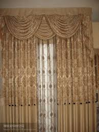 plain polyester window curtain with attached valance 2