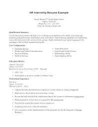 Sample Resumes For Internships For College Students Internship