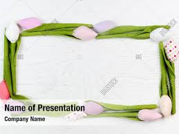 Frame Of Spring Powerpoint Theme Powerpoint Template Frame