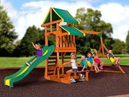 Outdoor Playsets Swing Sets For Backyard Children Kit Kids Wooden Play Structure