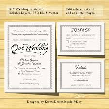 Easy Invitation Templates Wedding Invitation Template Instant Download Printable