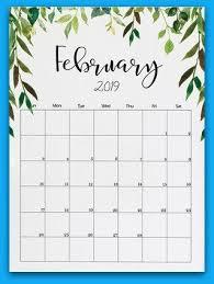 february printable calendar 2019 february 2019 floral printable calendar 2019 calendars calendar