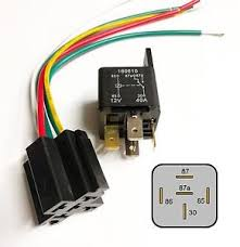 auto bike relay amp v a amp wired base fuse box radio image is loading auto bike relay 40amp 12v 40a amp wired