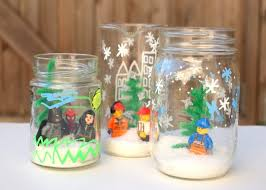 these diy snow globes for kids are so fun use your legos and don