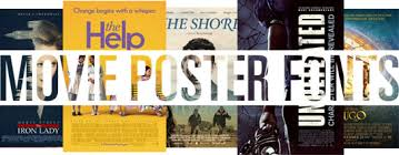 Fonts Posters Oscar Awarded Movie Fonts 2012 Linotype Font Feature