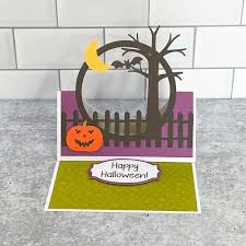 Here are two sets of picture cards for halloween. My Happy Place Lori Whitlock Halloween Scene Card