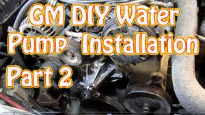 DIY Chevy Silverado 5.7L Vortec Water Pump Installation How to ...
