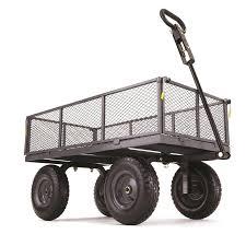gorilla carts 6 cu ft steel yard cart