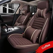 lunda leather pu car seat covers for toyota rav4 prado highlander corolla camry prius reiz crown yaris car accessories styling malaysia