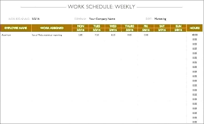 Action Day Planner Template Work Schedule Template Word