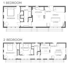 Great Tiny House Design Plans For A 2 Bedroom Space. Bbb Floor Plans Bbh