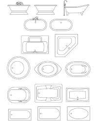 freestanding bathtub autocad block ideas