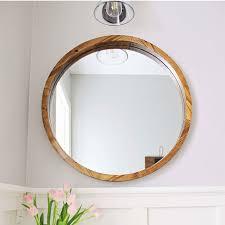 antique round mirror wooden frame designs