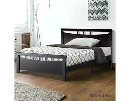 cherry wood bed frame king single solid pine bedroom furniture mattress base plywood slats dark with