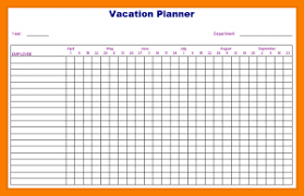Vacation Calendar Templates 50 Vacation Calendar Templates Examples Pdf All Form