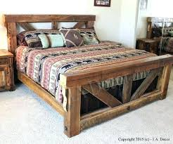 Distressed Wood Bed Frames Love This Kind Frame Reclaimed Di