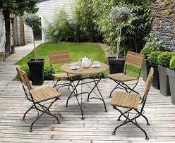 bistro round table and 4 chairs patio