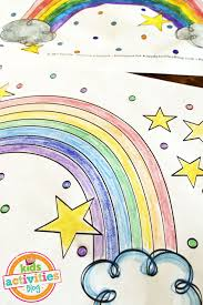 Small Picture Cute Rainbow Coloring Page Printable