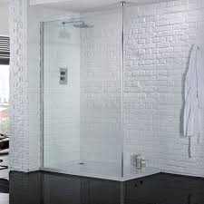 aquadart wetroom 8 700mm safety glass shower panel