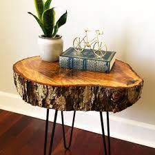 diy tree wood slab table