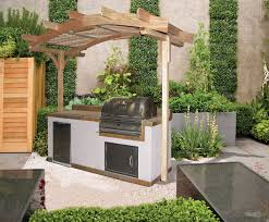Small Outdoor Kitchen Wooden Small Outdoor Kitchen Ideas With Pool House Decorating Ideas