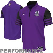 adidas quarter zip. adidas milwaukee bucks shooter climacool quarter zip t-shirt - purple