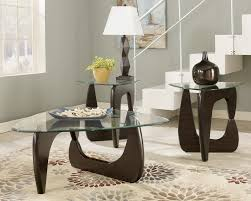 wood coffee table set. Modern And Stylish Cocktail Table Sets With Wooden Leg Triangle Glass Top Decorated Wood Coffee Set