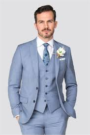 Grey Light Blue Suit Occasions Light Blue Tailored Fit 2 Piece Suit In 2020