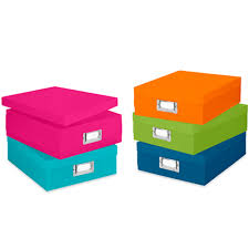 Colorful Plastic Document Boxes Set Of 5 In File Storage Boxes