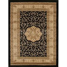 network samatra traditional persian style black ivory rug reviews temple webster