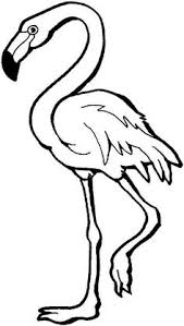 pictures of flamingos to color. Contemporary Color This Coloring Page For Kids Features A Flamingo Standing On One Leg The  Has Long Neck As Well Long Skinny Legs With Pictures Of Flamingos To Color S
